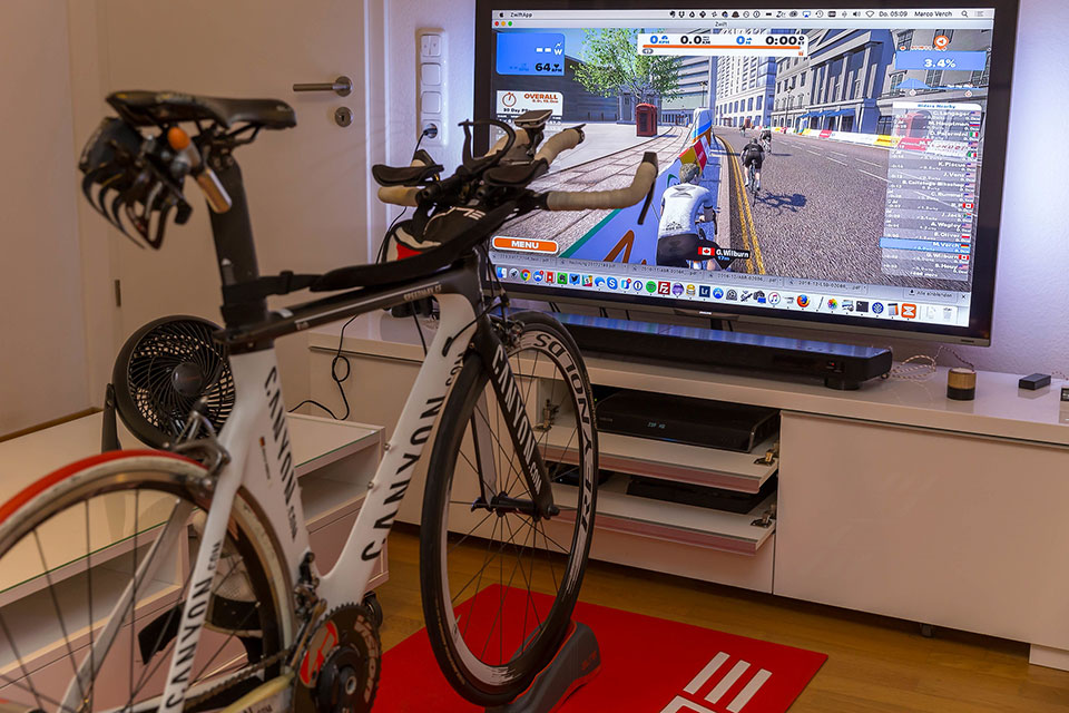 Zwift indoor cycling